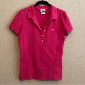Lacoste Hot Pink Polo